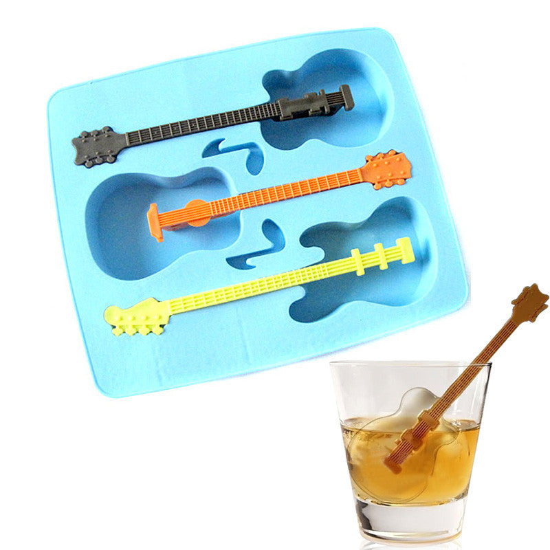 Guitar Shaped Ice Cube Molds (Free Shipping)