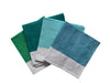 Shades of green Colourblock linen napkins (set of 4)