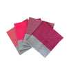 Shades of pink Colourblock linen napkins (set of 4)
