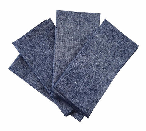 Indigo linen napkins (set of 4)