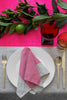 Neon pink Colourblock linen tablecloth