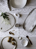 White Eyelet linen napkins (set of 4)