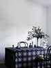 Indigo Algarve linen tablecloth