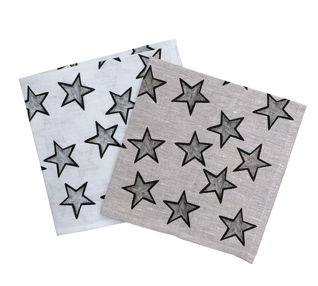 Black Stars linen napkins (set of 4)