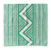 Bayleaf green ZigZag linen napkins (set of 4)