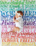 Fleece Blanket - Rainbow Family Rules - howjoyfulshop