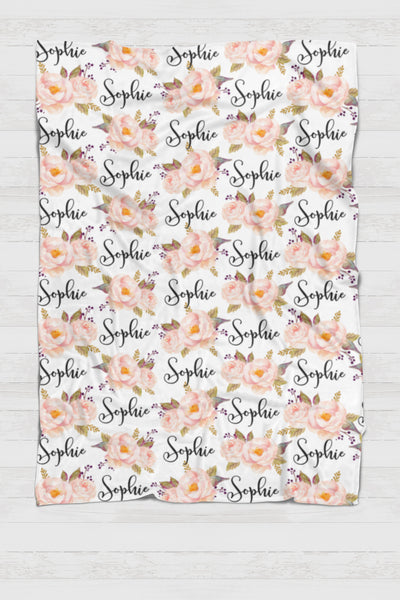 CUSTOM NAME Swaddle - Botanical - 0P50