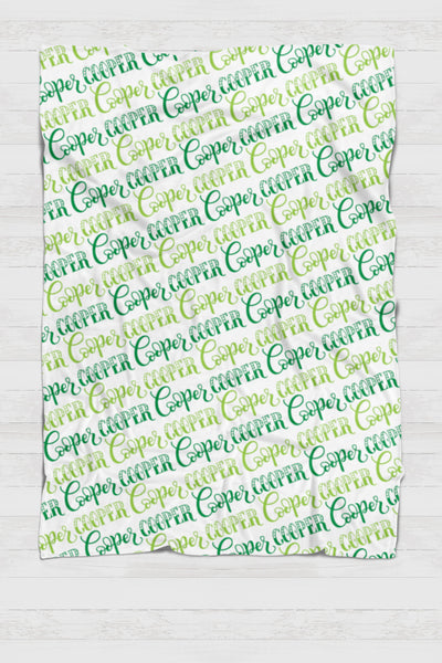 Fleece Blanket - Custom names with 2 colors - howjoyfulshop