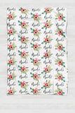 Personalized Swaddle - Red and green Botanical - howjoyfulshop