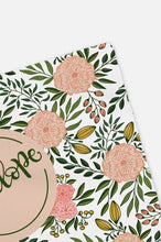 Load image into Gallery viewer, Personalized Swaddle - Peach and green Blooms - Blush - howjoyfulshop
