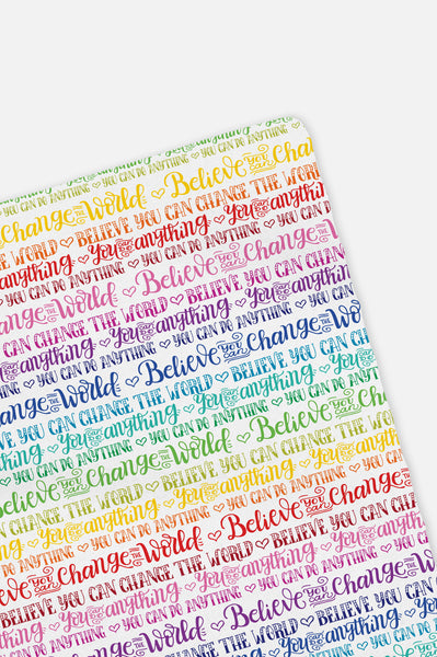 Swaddle - Rainbow - You can do anything - Believe you can change the world - howjoyfulshop