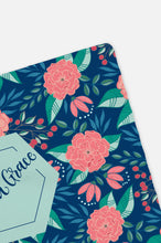 Load image into Gallery viewer, Personalized Swaddle - Pink and blue tropical botanical - howjoyfulshop