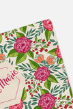 Personalized Swaddle - Hot pink and green tropical botanical - howjoyfulshop