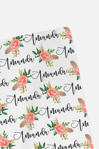 CUSTOM NAME Swaddle - Botanical - 0P51