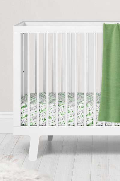 Crib sheet - Arrows pattern with two custom colors - howjoyfulshop