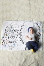 Cargar imagen en el visor de la galería, Fleece Blanket - I love you to the moon and back - howjoyfulshop