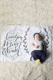 Fleece Blanket - I love you to the moon and back - howjoyfulshop