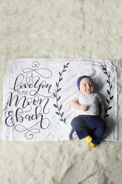 Fleece Blanket - I love you to the moon and back