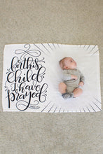 Load image into Gallery viewer, Fleece Blanket - For this child I have prayed - howjoyfulshop
