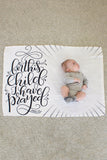 Fleece Blanket - For this child I have prayed - howjoyfulshop