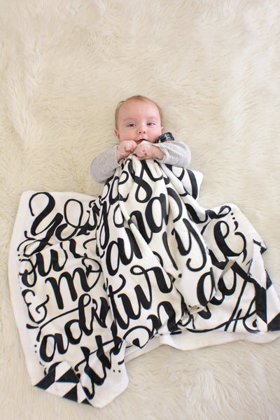 Fleece Blanket - You are our greatest adventure - howjoyfulshop