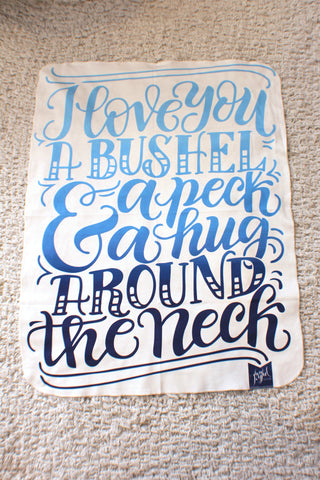 Swaddle - I love you a bushel and a peck - Blue shades