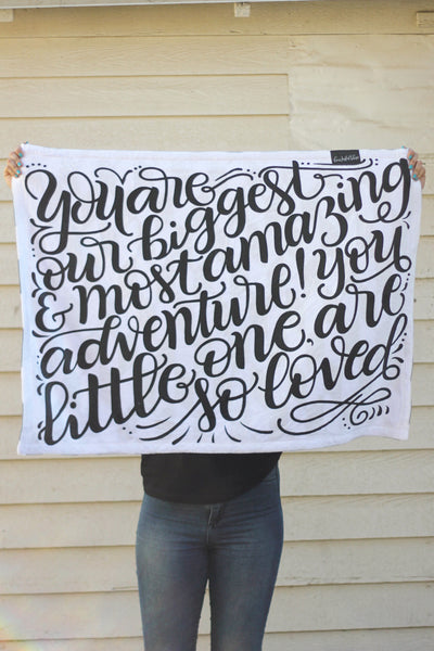 Fleece Blanket - You are our greatest adventure