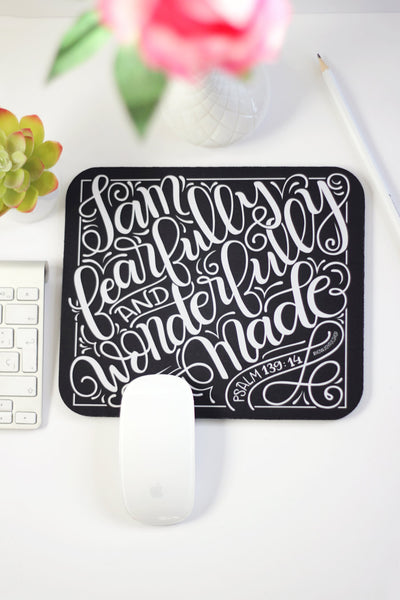 Mousepad - I am fearfully and wonderfully made - howjoyfulshop