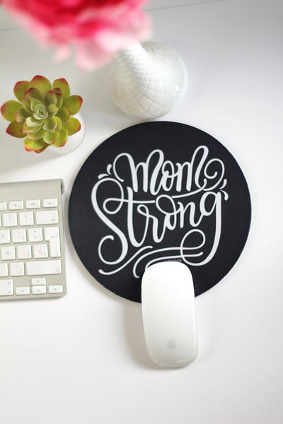 Mousepad - Mom strong - howjoyfulshop