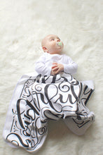 Load image into Gallery viewer, Swaddle - Organic cotton - LAP SIZE - I am fearfully and wonderfully made - SALE - howjoyfulshop