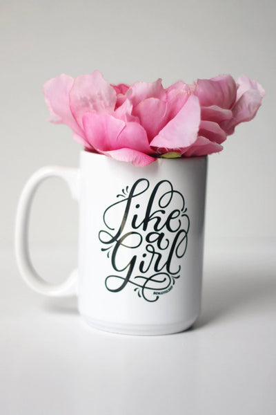 Mug - Like a girl - howjoyfulshop