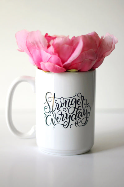 Mug - Stronger everyday - howjoyfulshop