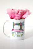 Mug - Pretty girl like to sew - howjoyfulshop