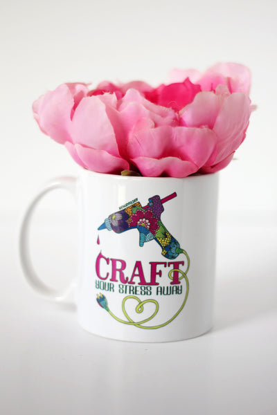 Mug - Craft your stress away - howjoyfulshop