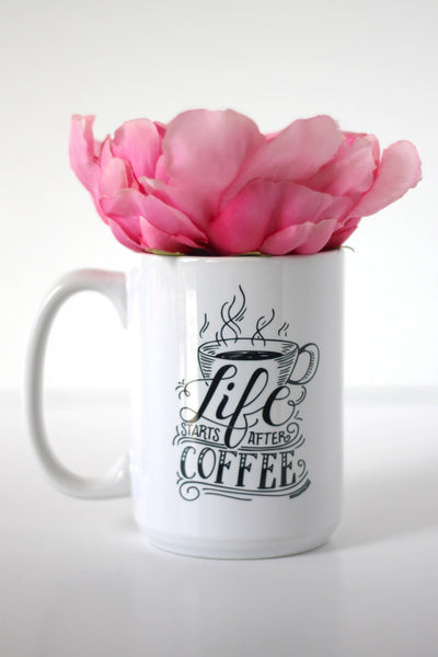 Mug - Life starts after tea/coffee - howjoyfulshop