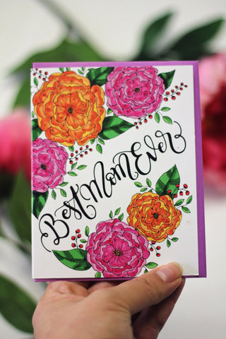 Card - Best mom ever card - howjoyfulshop