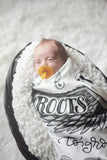 Swaddle - I will give you wings to fly and roots to grow - howjoyfulshop