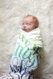 Swaddle - Organic cotton - LAP SIZE - The lord is my shepherd - PSLAM 23 - SALE - howjoyfulshop