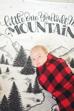 Muslin cotton swaddle - Little one, you will move mountains - howjoyfulshop