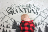 Muslin cotton swaddle - Little one, you will move mountains