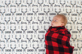 Personalized Swaddle - Deer