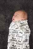 Personalized Swaddle - Teepee in custom color - howjoyfulshop