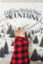 Load image into Gallery viewer, Muslin cotton swaddle - Little one, you will move mountains - howjoyfulshop