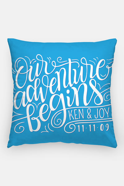 Pillow - Our adventure begins - howjoyfulshop