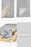 Fleece Blanket - Grey and white boho western - howjoyfulshop