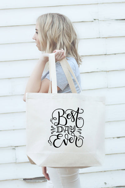 Big Tote bag - Best day ever - howjoyfulshop