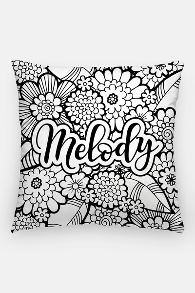 Pillow - Custom name - Bold blooms - howjoyfulshop