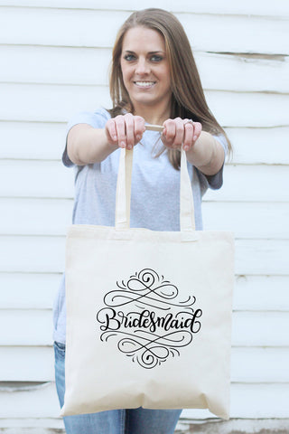 PREORDER - Small Tote bag - Bridesmaid - howjoyfulshop