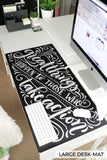 Desk-pad - It won't be easy, but it will be worth it - howjoyfulshop