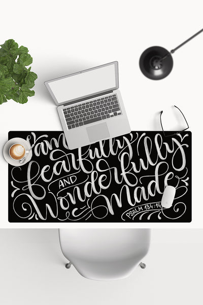 Desk-pad - I am fearfully and wonderfully made - PSALM 134:14 - howjoyfulshop